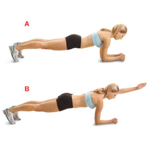 woman 3-Point Planks