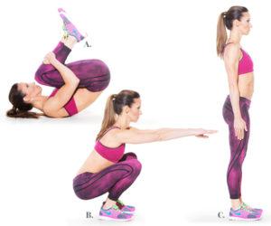 woman Deck Squats