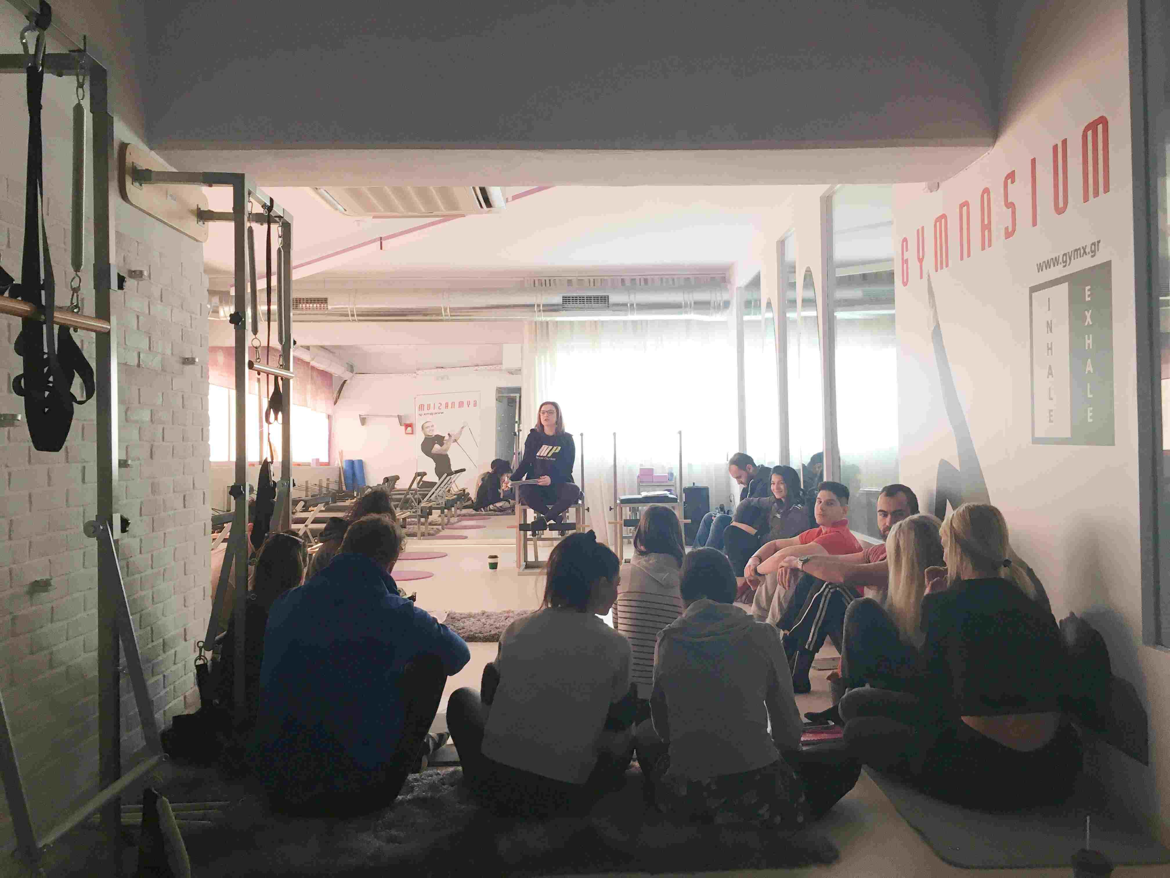Εκπαίδευση pilates για το δίκτυο γυμναστηρίων Gymnasium
